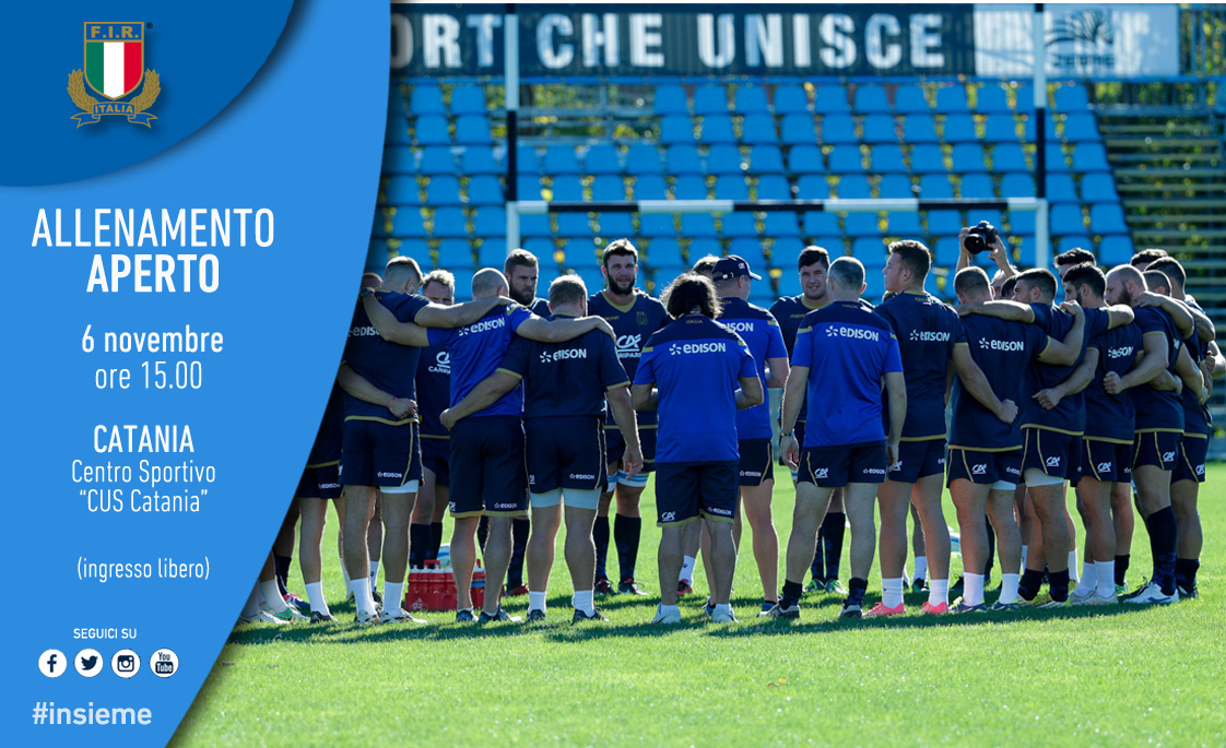 Catania accoglie la nazionale italiana di rugby $