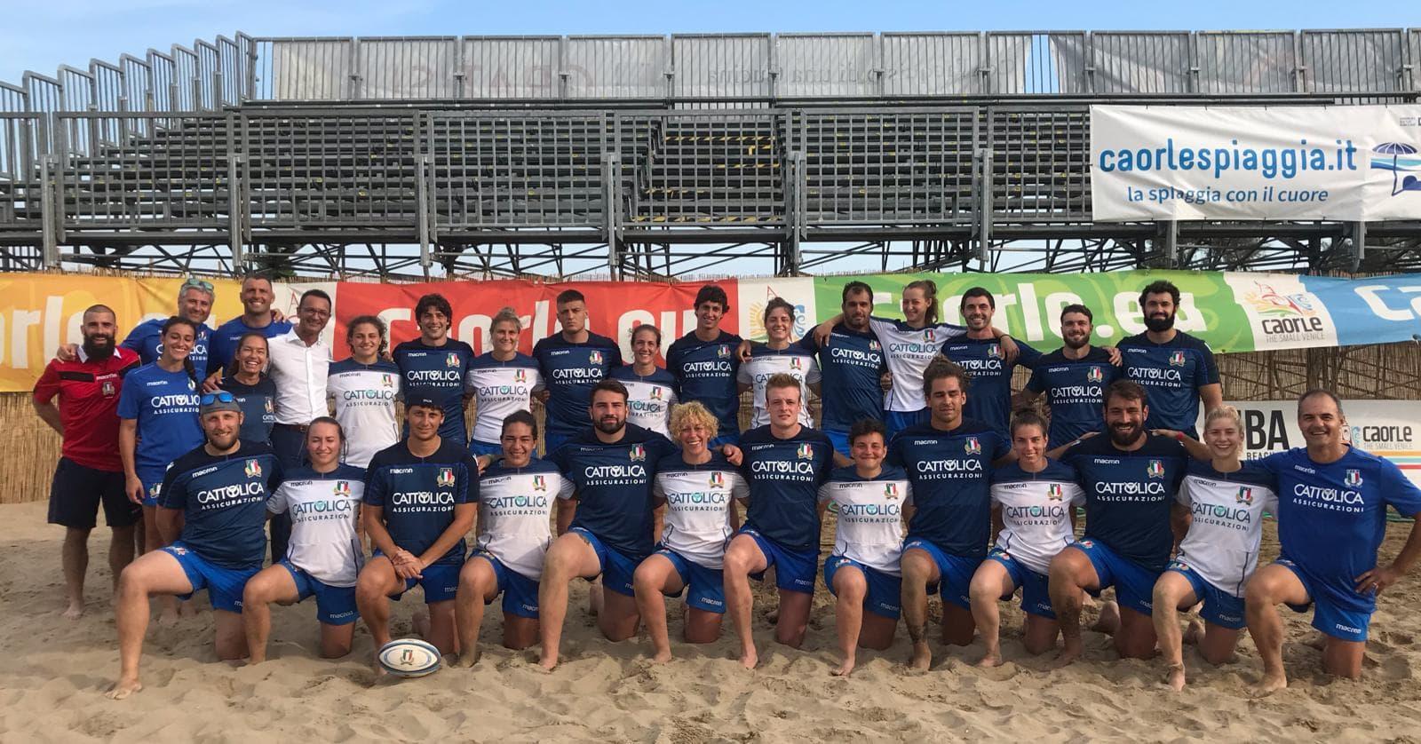 nazionali beach rugby maschile femminile 2019