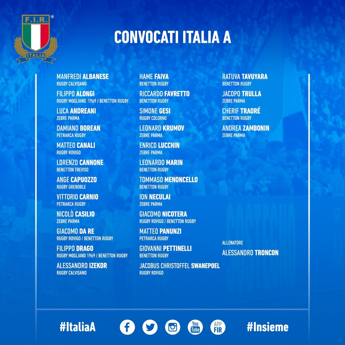 convocati italia a spagna