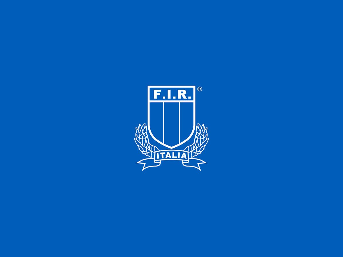 logo fir negativo sfondo blu