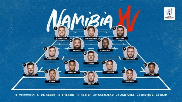 namibia rugby formazione 2019 italia