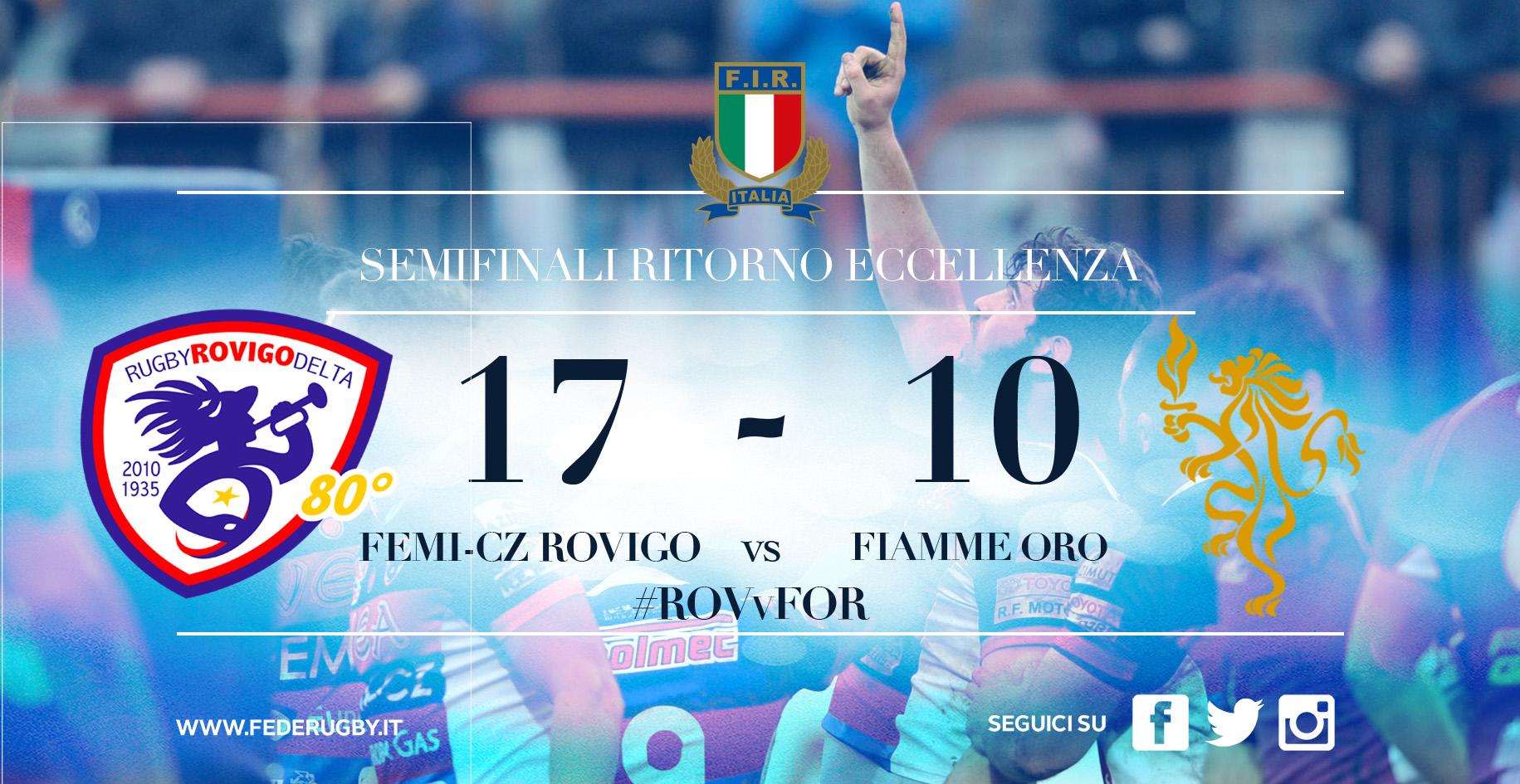 Semifinale ROVvFORM postgara